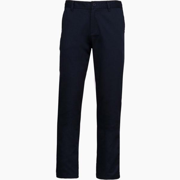 Pantalon broderie bleu
