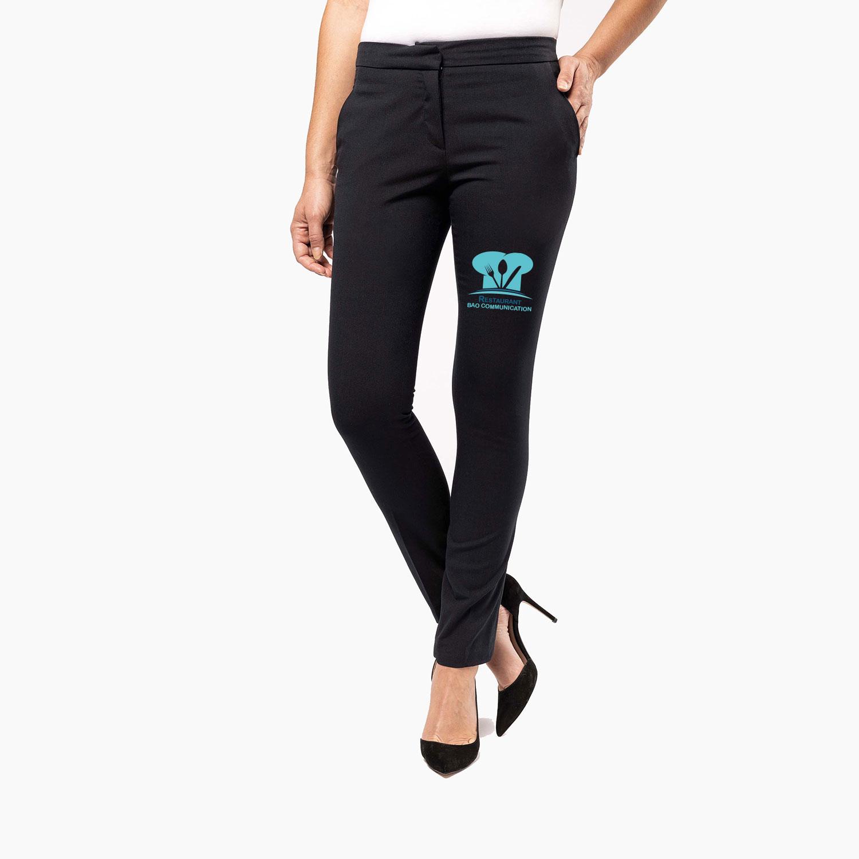 Pantalon restauration femme