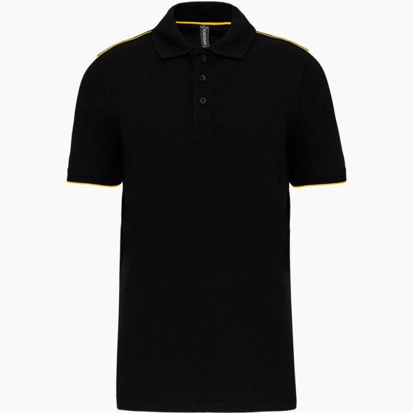 Polos personnalisation noir jaune