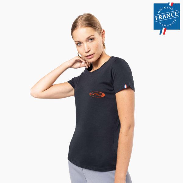 T-shirt broderie origine france femme