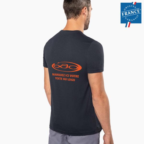 T-shirt homme broderie origine france garantie