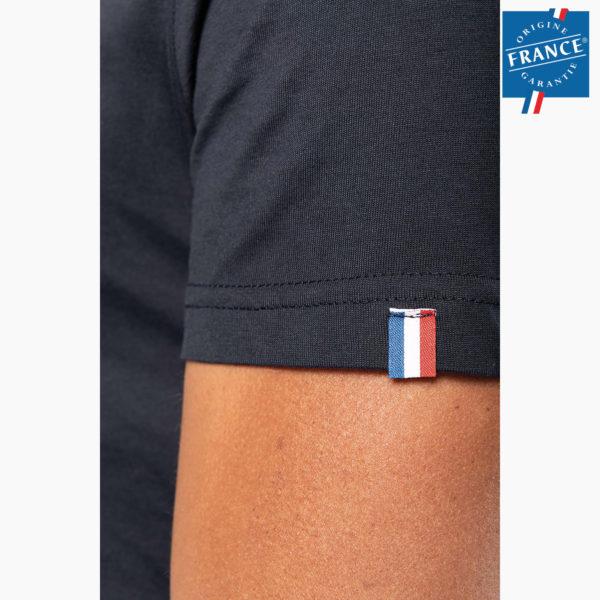 T-shirt manche personnalise origine france garantie
