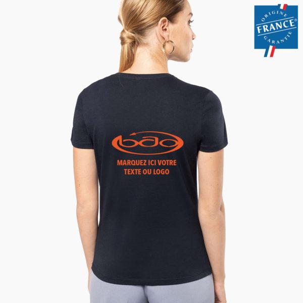 T-shirt personnalisation origine france dos
