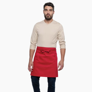 Tablier milong restaurants rouge