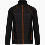 Veste broderie noir orange