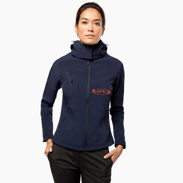 Veste capuche personnalise nautisme femme