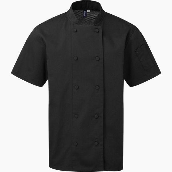 Veste cuisinier restaurant noir
