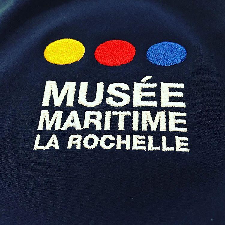 Broderie personnalisée pour le Musée Maritime de La Rochelle