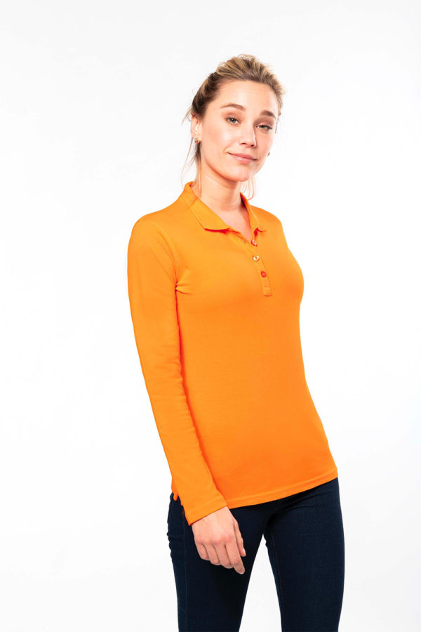 Polo Femme manches longues - Broderie - Marquage textile