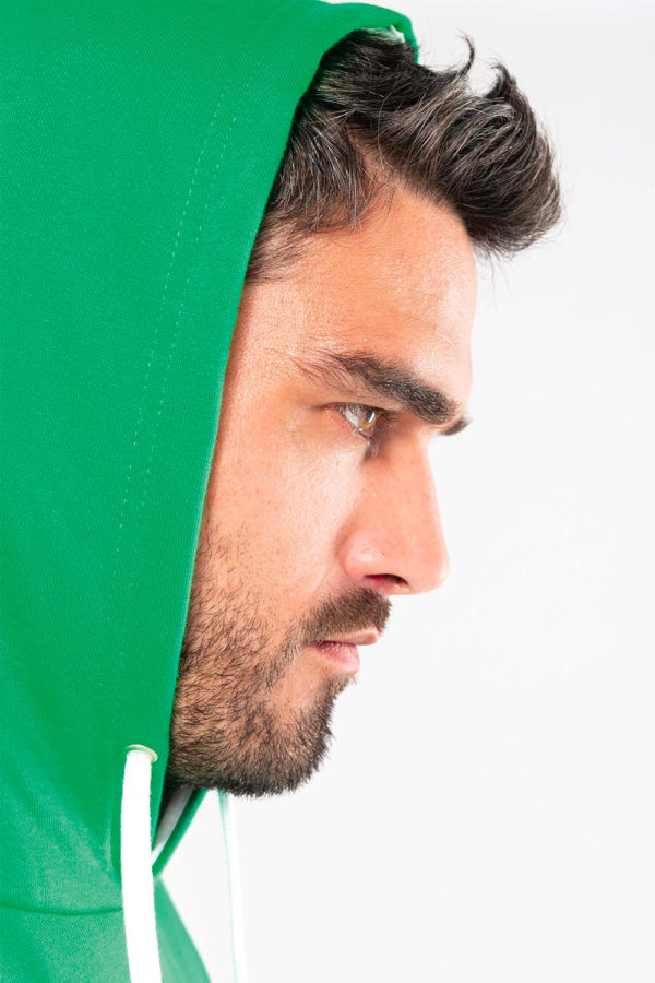 Sweat-shirt capuche contrastée homme | Broderie - Marquage textile