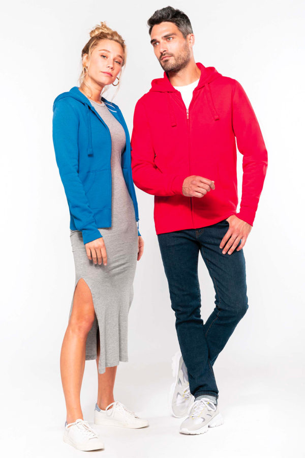 Sweat-shirt zippé capuche | Broderie - Marquage textile