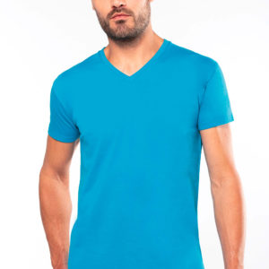 T-Shirt homme col V - Broderie - Marquage textile